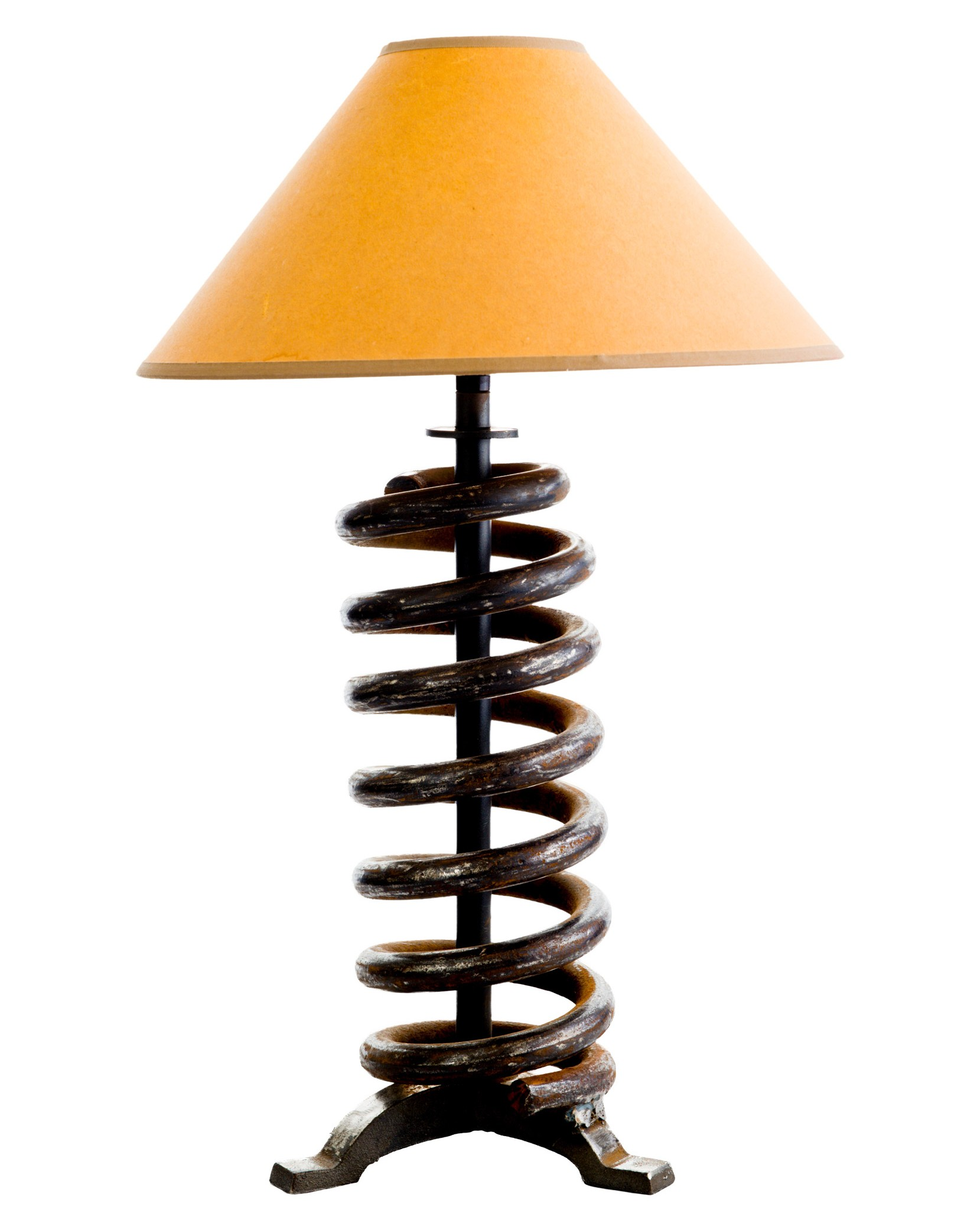 Salvaged Steel Coil Lamp
