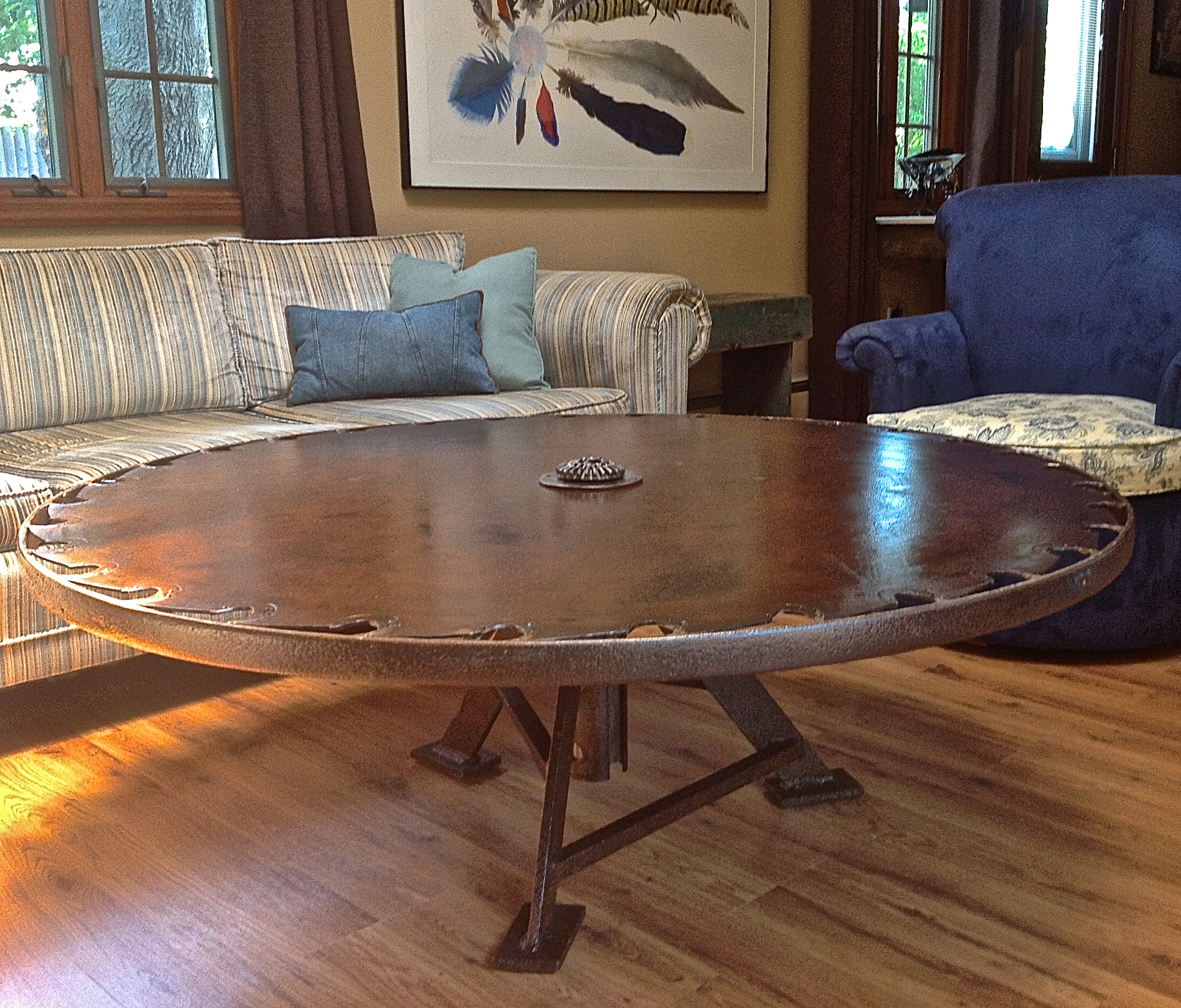 Saw Blade Coffee Table
